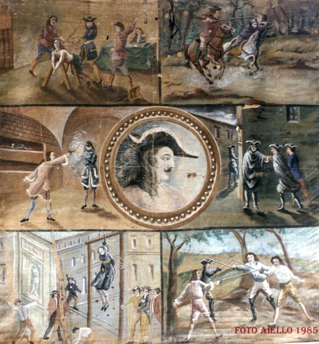 Telone esposto nel 1940 per la rappresentazione de-I Beati Paoli-Teatro di Nino Canino