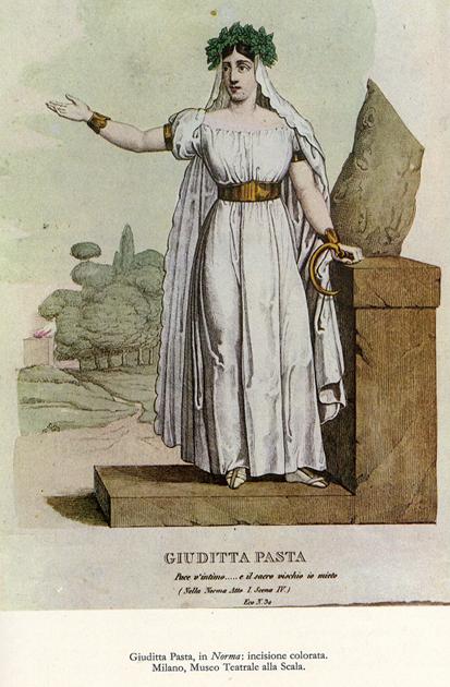 Giuditta Pasta,prima interprete di Norma