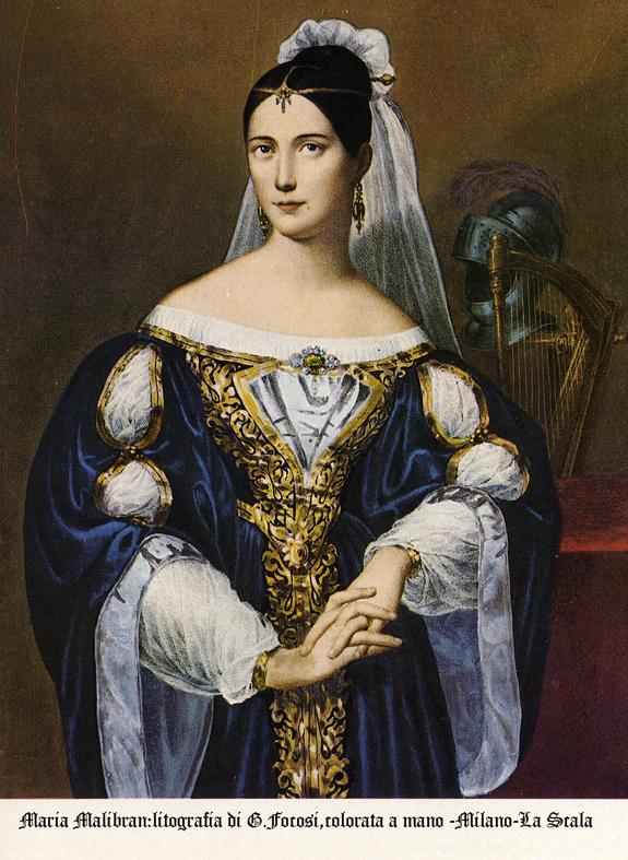 Maria Malibran,interprete di Norma nel 1834