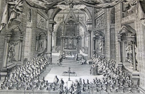 Doppia tavola incisa a mano,1725