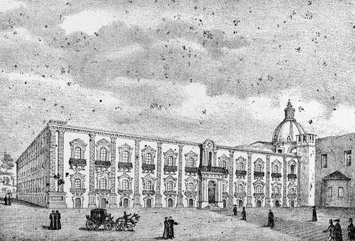 Catania,Monastero dei Benedettini.Disegno di Salvatore Zurria