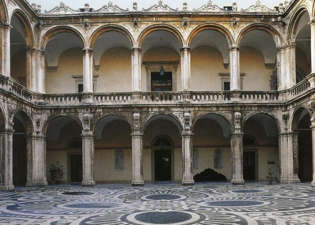 Loggiato dell'atrio dell' Università di Catania