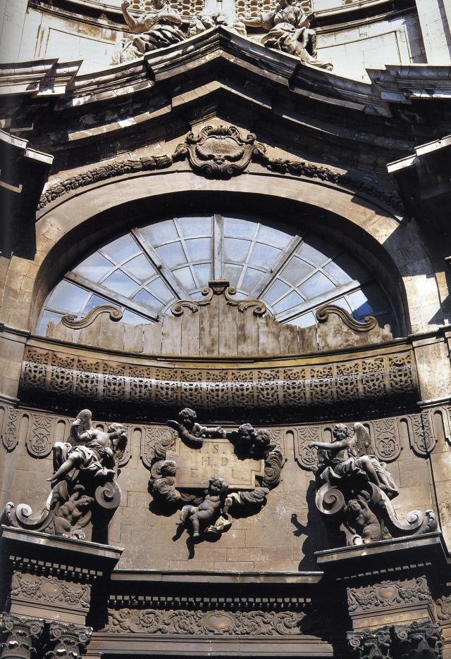 Catania-Chiesa della Badia di Sant'Agata-Particolare della facciata- foto Aiello