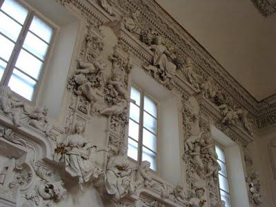 Oratorio di Santa Cita.Parte superiore dell'addobbo decorativo-Foto Aiello
