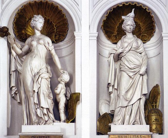 Allegoria della Carità e dell'Umiltà-Oratorio di Santa Cita -Foto Aiello