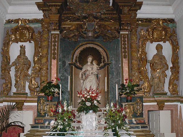 Antonello Gagini-altare con la Madonna della neve nel Santuario di Santa Lucia del Mela-ME