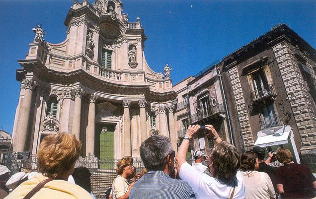 Catania-Facciata della Collegiata