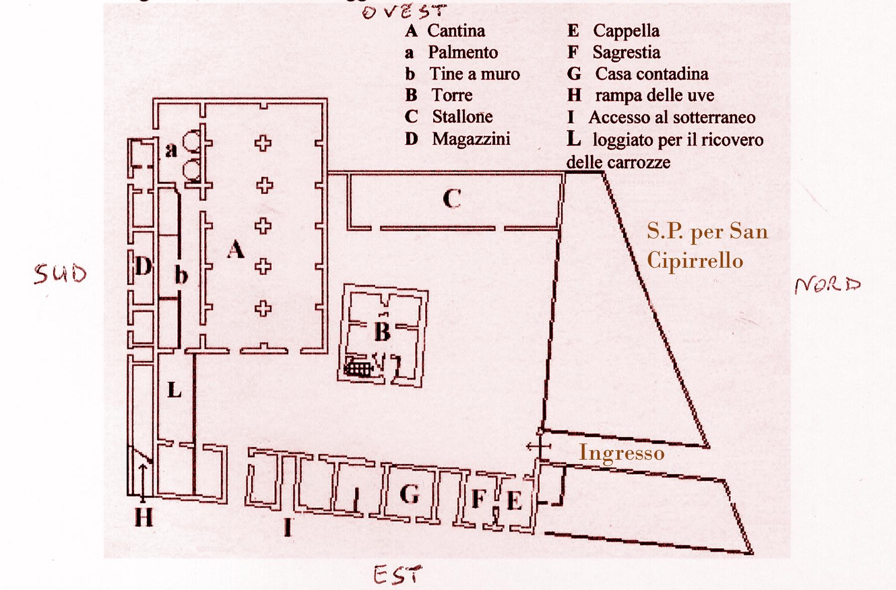 la real cantina borbonica dal progetto alla realizzazione ForPlanimetrie Della Cantina