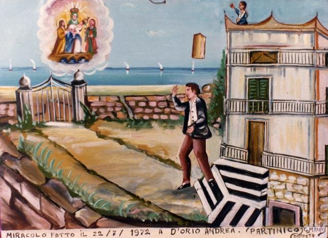 -Miracolo fatto il 1972,dipinto da Giuseppe Manfrè