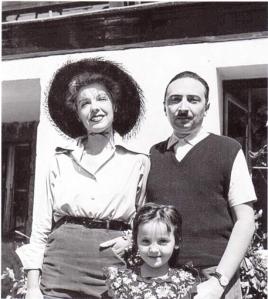 Anna Proclemer,Vitaliano Brancati e la figlia Antonia