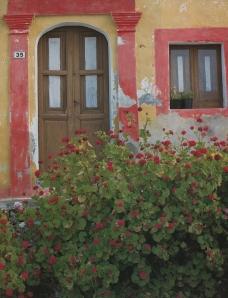 La tipica colorazione delle case di Linosa.