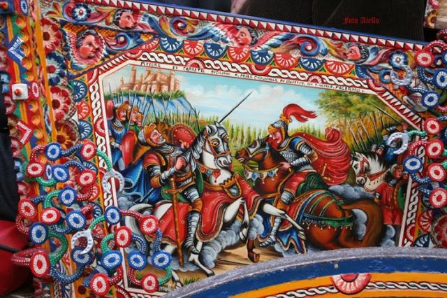Sponda dipinta da F.Paolo Cardinale(foto Aiello,2007)