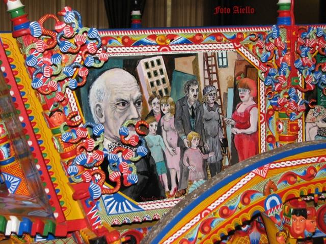 Sponda di carro dipinta da Bruno Caruso e dai fratelli Ducato di Bagheria(foto aiello,2009)