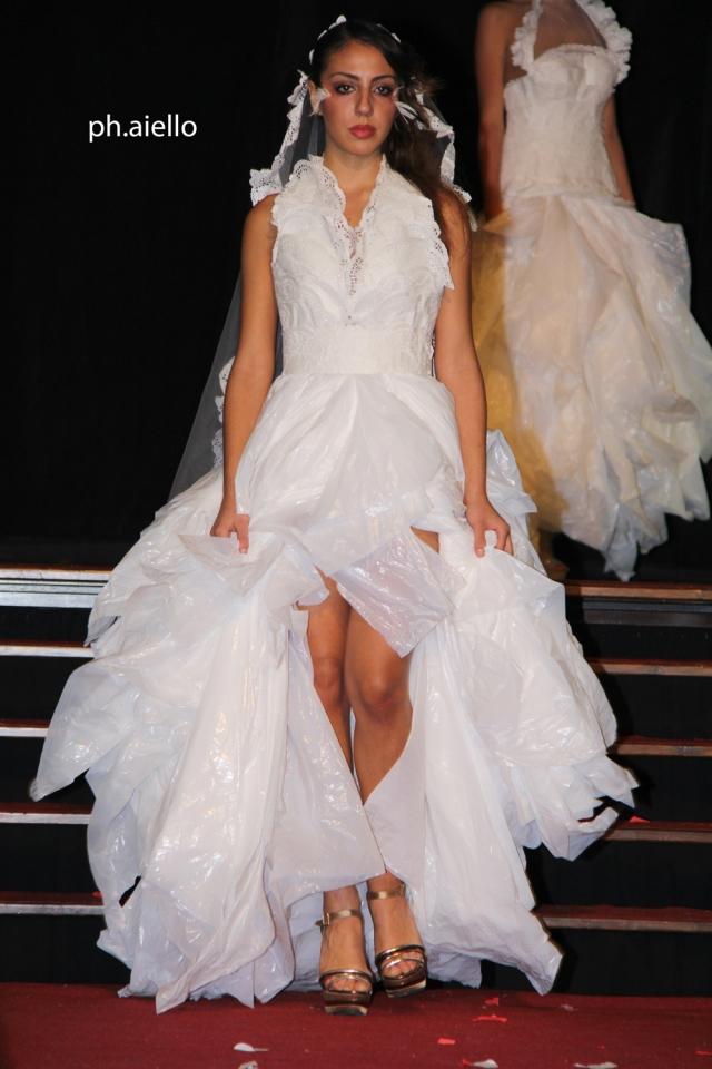 Un abito da sposa veramente creativo.